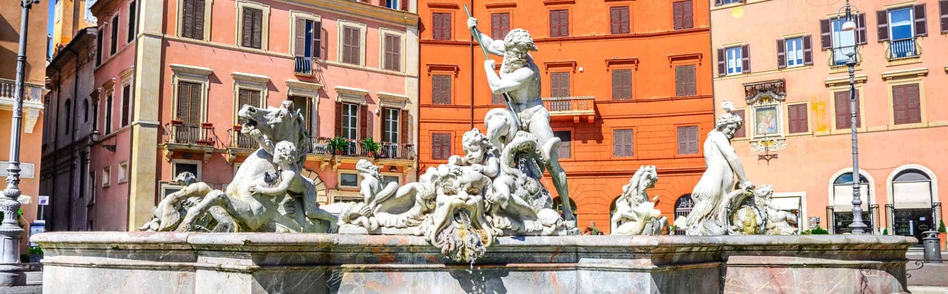 Navona Square fountain, private guided tour of Rome